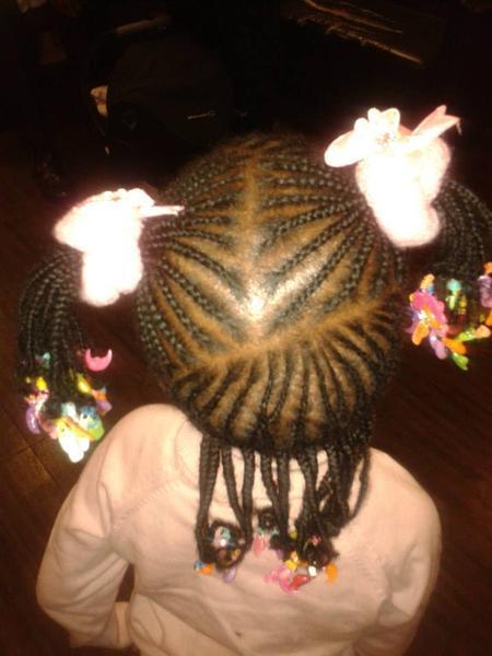 Coiffure africaines nattes tresses enfants communaut coiffure - Tresse pour enfant ...
