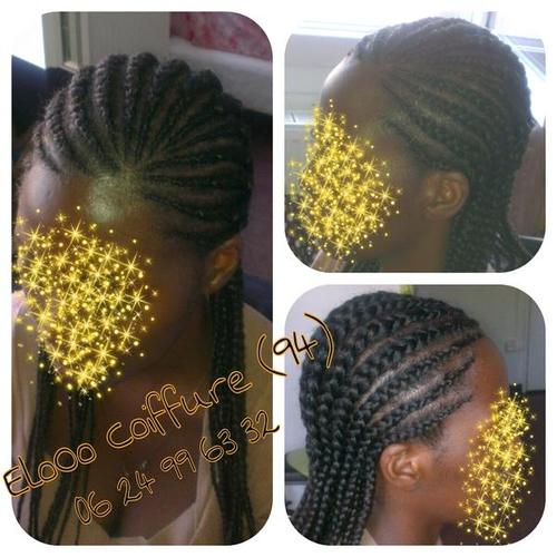 Nattes coll es par elooo coiffure communaut coiffure - Nattes collees modeles ...